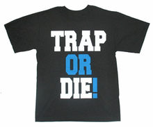 YOUNG JEEZY TRAP OR DIE! BLACK T-SHIRT NEW FREE KEYCHAIN NECKLACE HIP HOP RAP Homme Plus Size Tee Shirt(China)