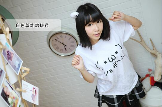Kawaii I Am Cute Text Printed Black White Raglan Sleeve Women T-shirt Swag Clothes Cool Tshirts Japanese Harajuku Mori Top Tee ...
