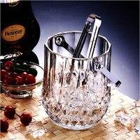 Frete grátis 1 pc 1040 ml balde de gelo de vidro balde de gelo recipiente de gelo