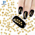 3D Nail Art Decoration Japanese Style Gold Starfish 4*4mm Design Charms Nails Accessories PJ448