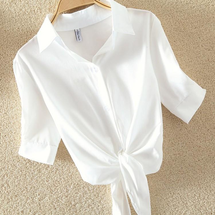HTB1WJmYOVXXXXasXpXXq6xXFXXXJ - Women Summer Chiffon Blouse Plus Size Short Sleeve Casual Shirt