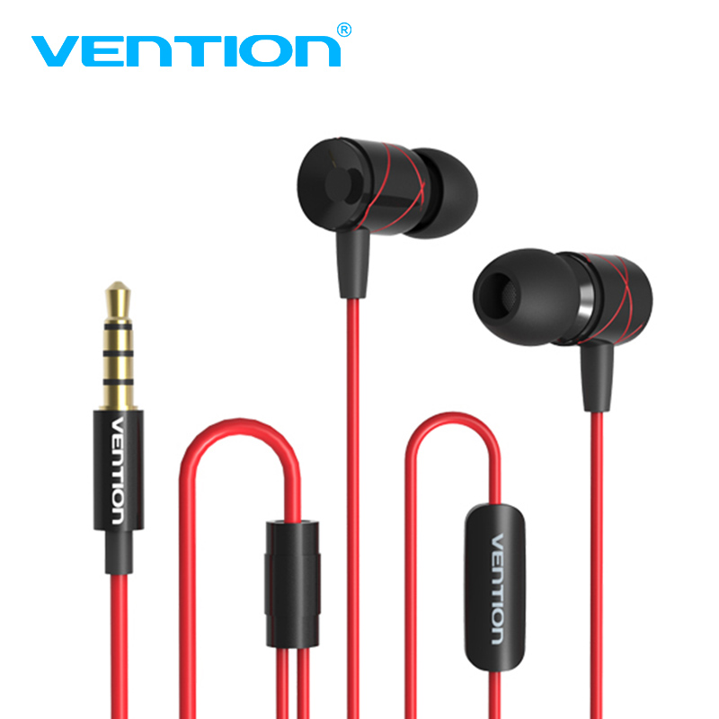 Vention 3.5mm Metal Noise canceling Earphones Stereo Earbuds with Microphone for