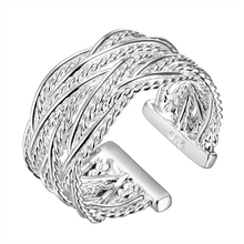Adjustable Silver Ring Jewellery Big Rings For Women Accessories Wholesale China Anillos Grandes De Mujer Plata Esterlina R023-5