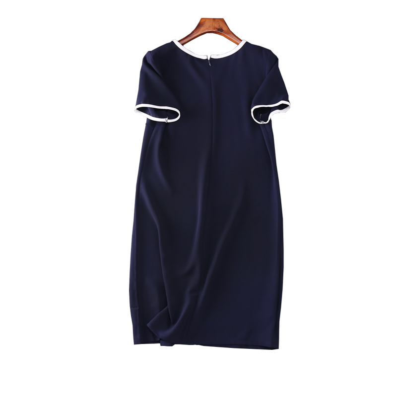 2019 Real New A line Solid Short Sleeve Appliques Knee length Fashion Natural O neck Spring Women Dress L 4x in Dresses from Women 39 s Clothing