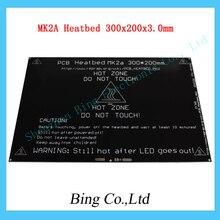 MK3 MK2A Heatbed 1.4 RAMPAS de Aluminio PCB climatizada MK2B MK3 cama Para Impresora 3D 300x200x3.0mm