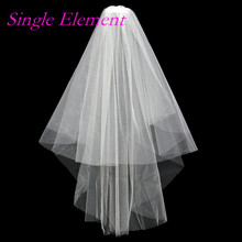 Hot Bridal Veils with Comb Two Layers Free Size White Ivory Bridal Veil Wedding Veils 2017 Wedding Accessory 10 two layers traditional firm high softness cotton mattress with 2 pillows twin size white