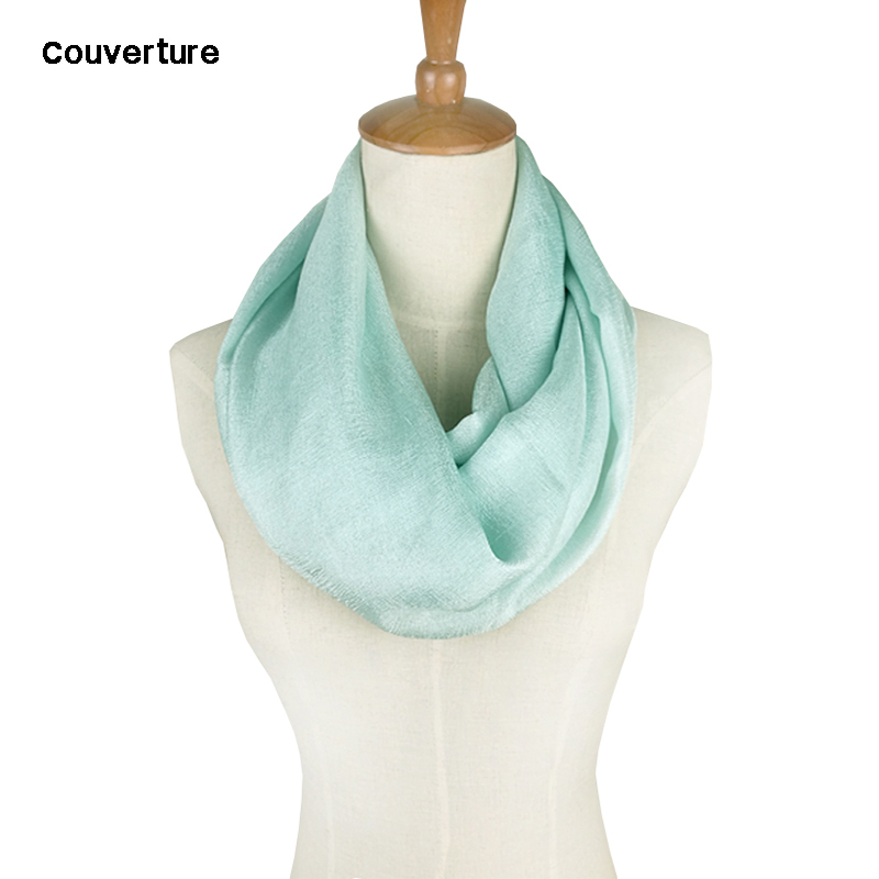 Couverture Silk Ring Scarf Women Chiffon Solid Color Tube Infinity Scarf Foulard Femme Summer Retro Ladies Scarves