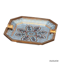 CIGARLOONG cigar ashtray hand-painted ceramic European bronze enamel CE-4313