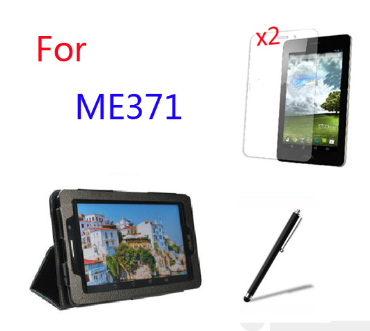 4in1 Luxury Magnetic Folio Stand Leather Case Cover +2x Screen Protector +Stylus For ASUS Fonepad 7 ME371 ME371MG K004 7