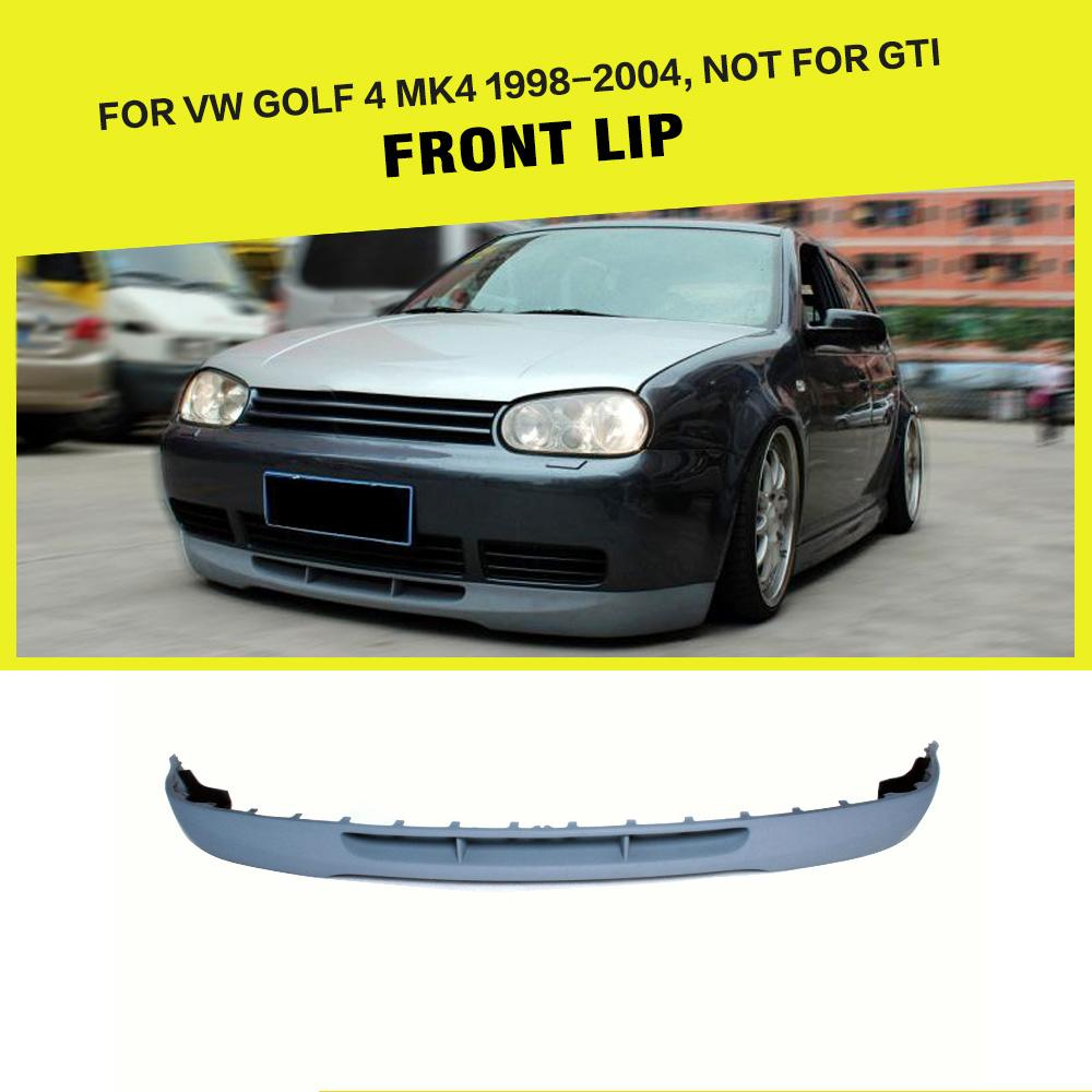 PU Grey Front Lip Chin Spoiler Bumper Guard For Volkswagon VW Golf 4 IV MK4 Standard 1998-2004 Non GTI Car Styling коврики в салон vw golf iv 1998 2004 4 шт полиуретан