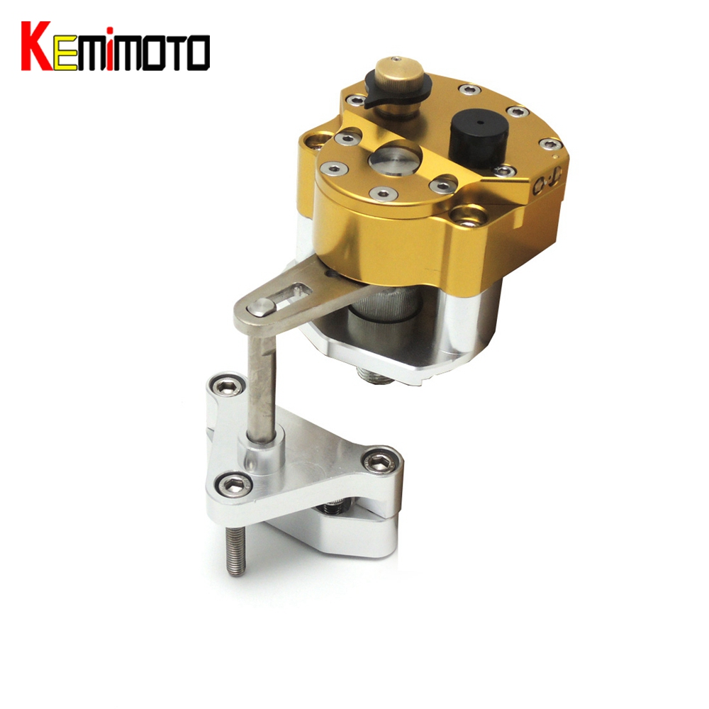 KEMiMOTO Motorcycle Accessories Steering Damper with Mounting Bracket Kit For YAMAHA YZF R3 R25 2014 2015 2016 YZF-R3 YZF-R25 5 25 cd rom bay to floppy drive mounting kit bracket
