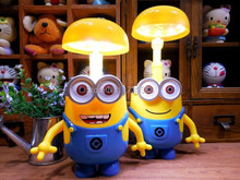 Novelty Despicable Me 16 LED Folding Head LED Desk Lamp Smiling Cartoon Minions Portable Baby Lamp kids Gift Student Lamp