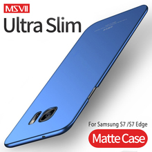 For Samsung S7 S6 Case MSVII Hard PC Frosted Cover Ultra Slim Matte Cases For Samsung Galaxy S7Edge S7 S6 Edge Phone Case New multifunctional pc material mirror surface phone cover case for samsung galaxy s6 edge