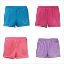 새로운 3-10Y 여자 어린이 소프트 발레 반바지 캔디 색상 어린이 여름 다기능 댄스웨어 Beachwear Legging 탄성 반바지 바지