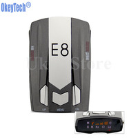 OkeyTech E8 Best Metal Car Radar Detector Full Band 360Degree Radar Detector Scanning Voice Anti Police