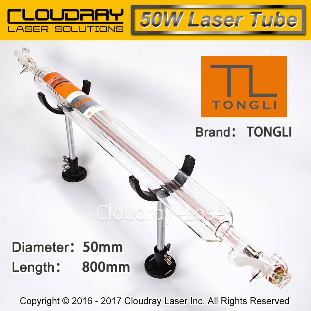 TONGLI 800MM 50W Co2 Glass Laser Tube for CO2 Laser Engraving Cutting Machine TL TLC800-50 850 50 co2 laser glass tube 40w for co2 laser engraving machine