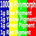 1000 PCL+4g color pigment instamorph moldable plastic polycaprolactone plastimake polymorph thermoplastic polyester forhobbyist