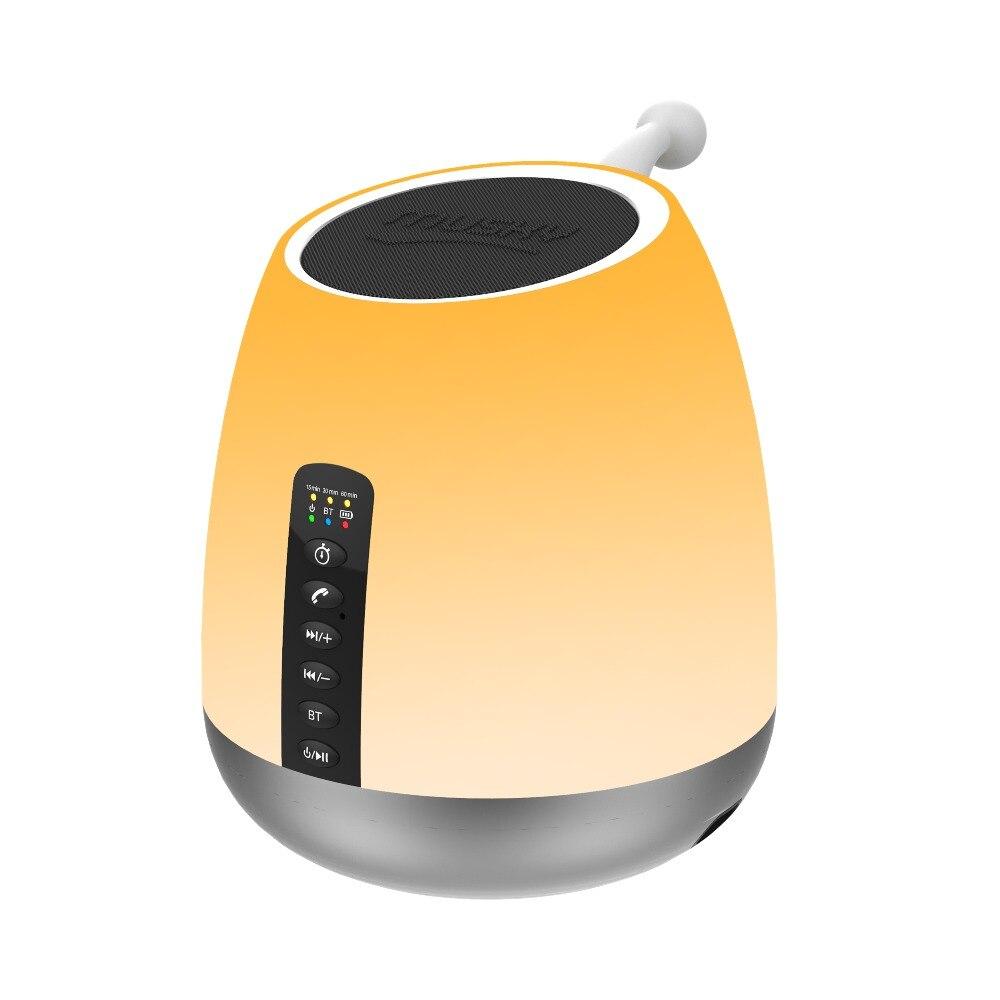 Haut-parleur Bluetooth Abuzhen Mini LED thèmes enfants bébé chambre lampe contrôle tactile Support TF FM Radio lecteur de musique Subwoofer