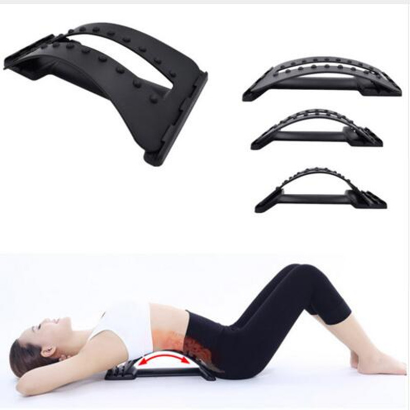 Back Massage Stretcher Fitness Equipment Stretch Relax Mate Stretcher Lumbar Support Spine Pain Relief Chiropractic static stretch and hold relax techniques over hamstring