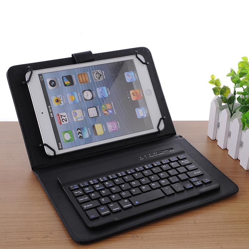 US $8 9 30% OFF|1 Pcs Slim Mini Keyboard Bluetooth Wireless 7 8 Inch For  Mobile Phone Tablets IOS Android HJ55-in Keyboards from Computer & Office  on