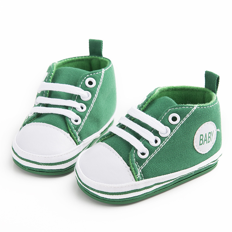 Green Newborn Baby Soft Bottom Anti-slip Prewalker Shoes