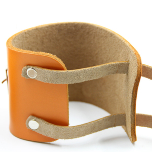 Image 5 - Muñequera de cuero de vaca para levantamiento de pesas, Protector de muñeca para Crossfit, con prensa de barra, pulsera para gimnasio, 1 par