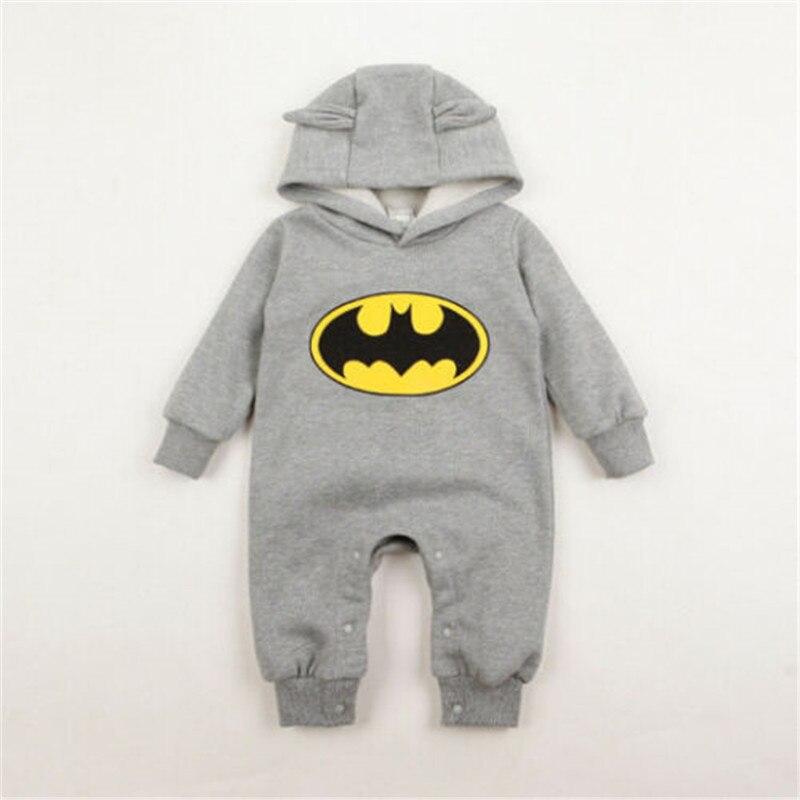 2def3015f 2017 Baby Batman Romper Winter Autumn Long Sleeve Baby Hooded Romper ...