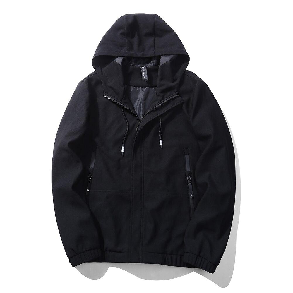 Spring Autumn Men Jean Jacket Flight Zipper Pocket Hooded Windbreaker Jacket Male Fashion Bomber Jacket For Men Asia Size 5XL