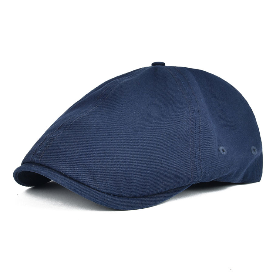 VOBOOM Berets Flat-Cap Summer Boina Cabbie Adjustable Women Cotton Twill Casual Navy-Blue