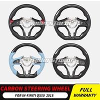 Anti Slip Black Carbon Fiber Top carbon fiberr Steering Wheel Cover For Infiniti Q50 Q60 Q70L QX50 QX60 QX70 Series