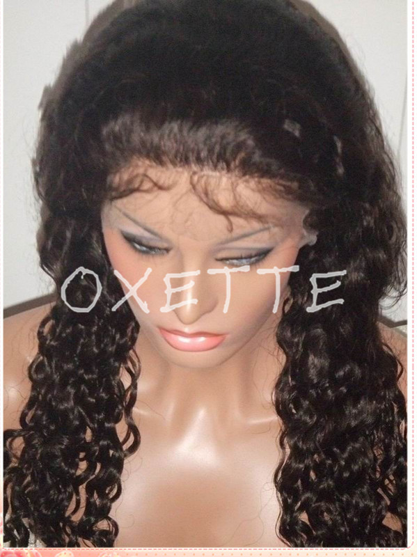 Oxette Peruvian deep wave wig medium short hair styles invisible lace front  wigs   full lace wig glueless in Oxette Peruvian deep wave wig medium short  hair ... ee491f142128
