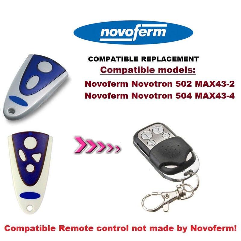 2pcs NOVOFERM MCHS43-2 NOVOTRON 512 Gate /Garage Door Opener Replacement Transmitter novoferm novotron 504 max43 4 transmitter 433 92mhz rolling code free shipping