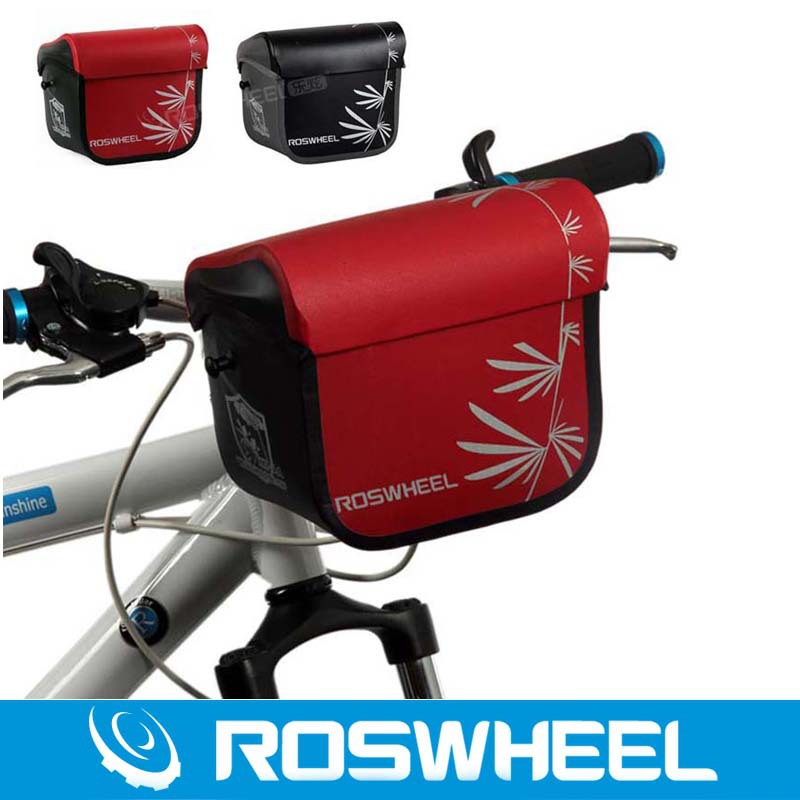 все цены на Roswheel Waterproof Bike Bicycle Handlebar Bag Cycling Front Camera Bag Baskets Durable онлайн