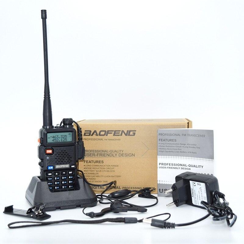 NEW FM Baofeng UV-5R Walkie Talkie 2 Two Way Radio Dual Band Vhf Uhf Uv 5r Baofeng For Push-To-Talk CB Radio Stations HF Tr