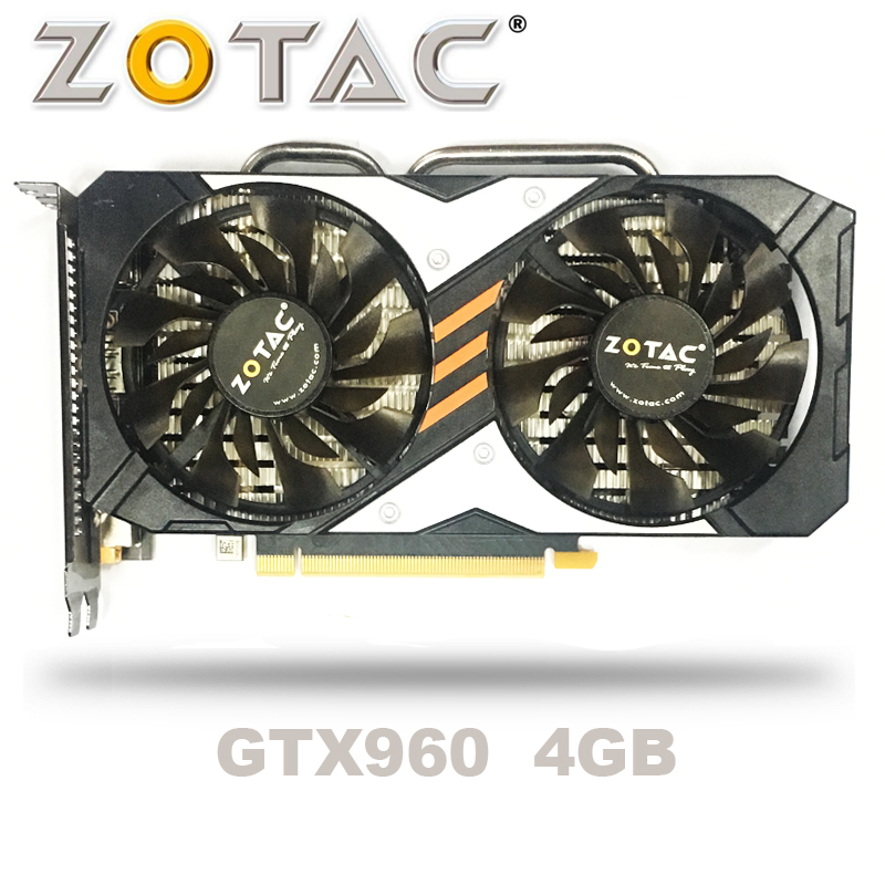 ZOTAC GTX-960-OC-4GB GT960 GTX960 4G D5 DDR5 128 bits cartes graphiques nVIDIA pc de bureau PCI Express 3.0 cartes graphiques d'ordinateur