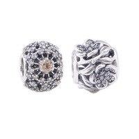 Ażurowe kwiat koraliki na bransoletki 925 srebrny koralik hollow charm wzór europejskiej charms diy ocena biżuteria dla partii