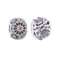 Openwork Flower Beads For Bracelet 925 Sterling Silver Bead Hollow Charm Pattern European Charms DIY Jewelry Findings For Party