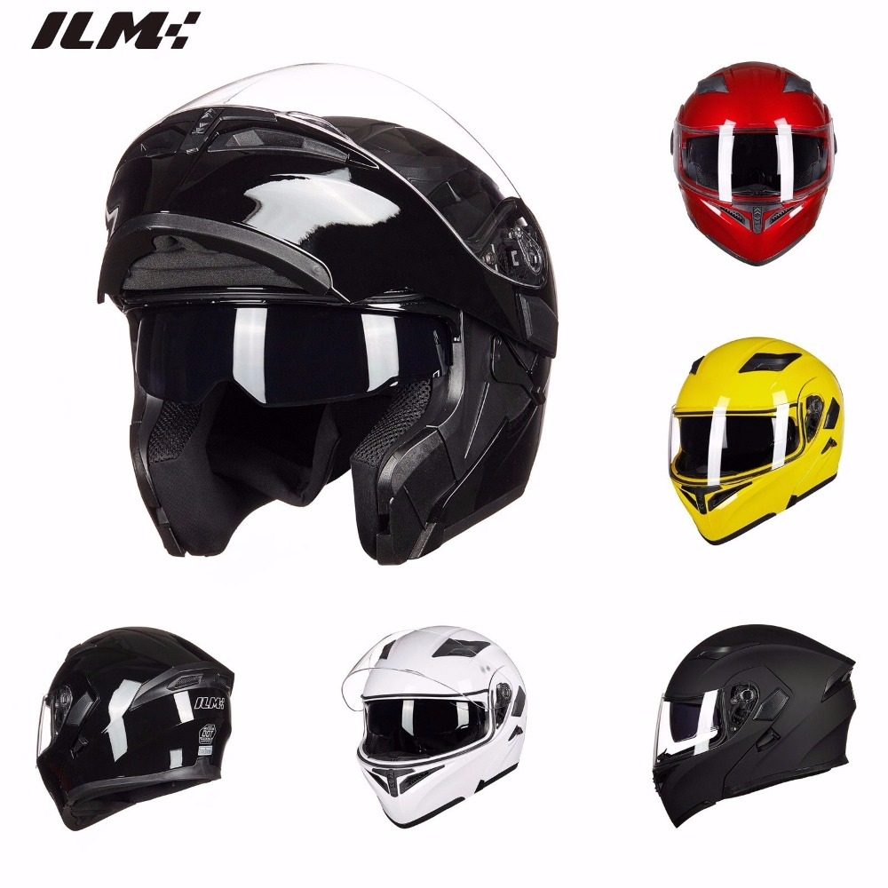 ILM Motorcycle Helmet Safe Helmet Racing Motocross Quad Dirt Bike Helmet DOT Approved Helmet Moto Cascos Motociclistas Capacete