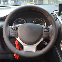 Cowhide Top Layer Leather handmade Sewing Steering wheel covers For Lexus CT200 IS250 IS300 NX200 NX300 RC200 RC300 RC350