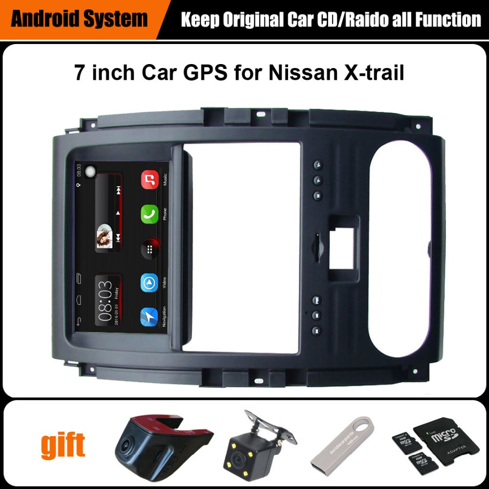Upgraded Original Car multimedia Player Car GPS Navigation Suit to Nissan X-trail Support WiFi Smartphone Mirror-link Bluetooth