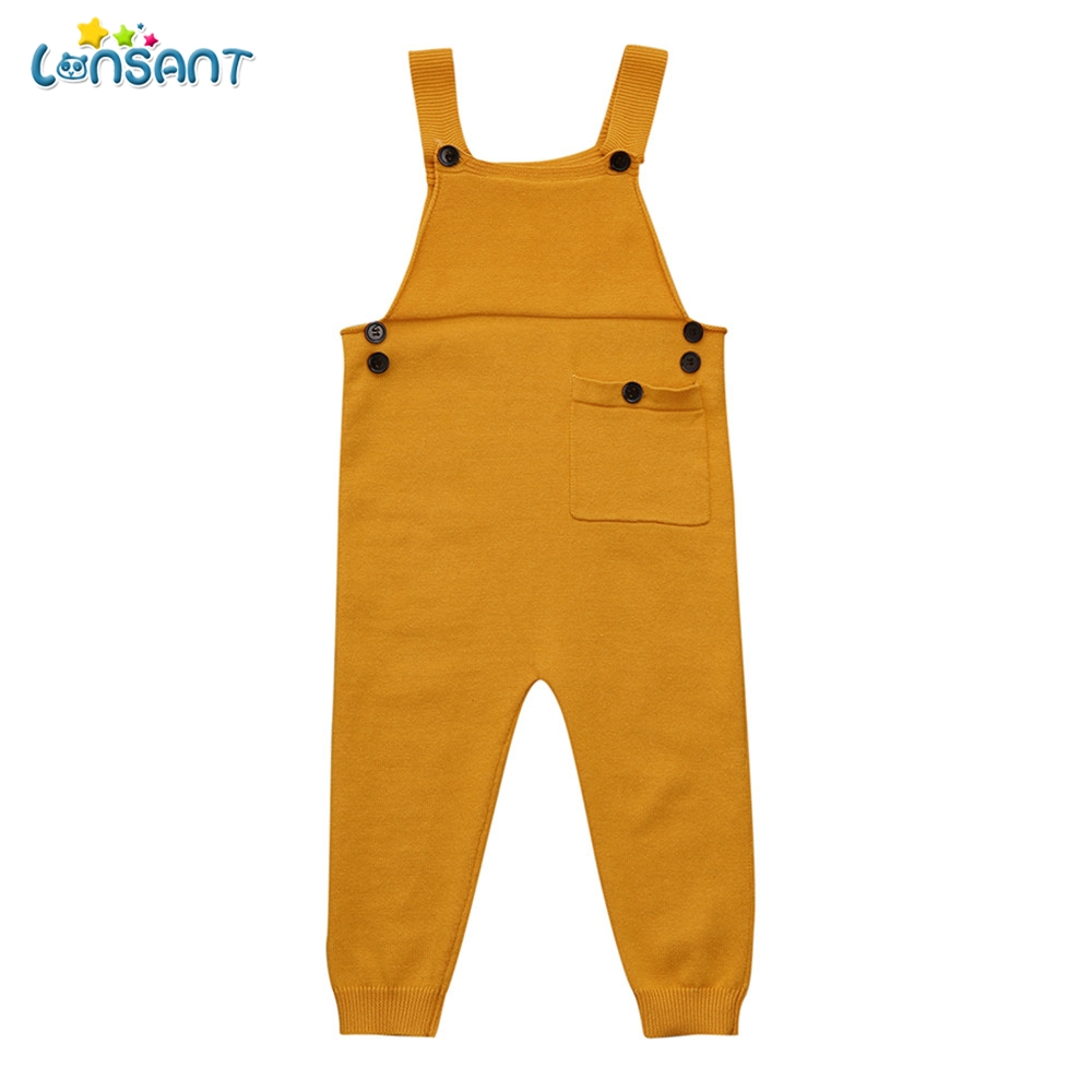 LONSANT Spring Autumn Baby Girl Overall Toddler Kids Baby Boys Girls Knitted Overalls Strap   Rompers   Jumpsuit Outfits Cotton Pant