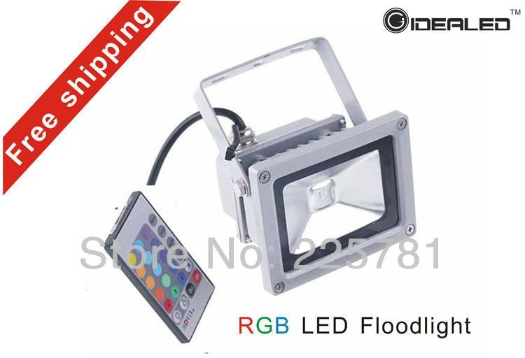 RGB LED floodlight gratuit de transport peisaj de iluminat de iluminat rezistent la apa LED inundații lumina AC85-265V
