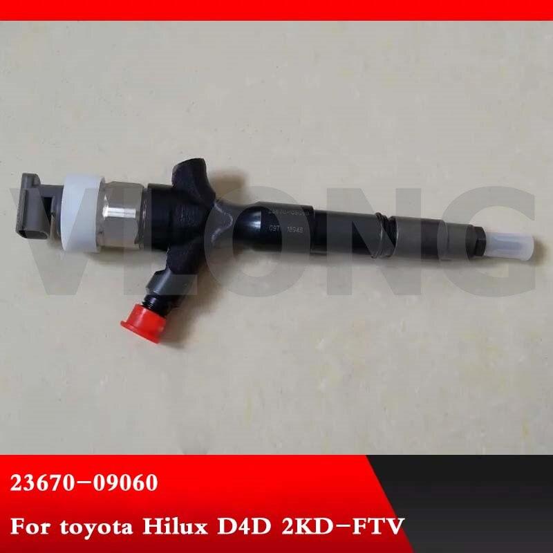 Véritable et tout nouveau 23670-09060 injecteur de carburant à rampe commune Inyector 23670 09060 pour toyota Hilux D4D 2KD-FTV 23670-0L010