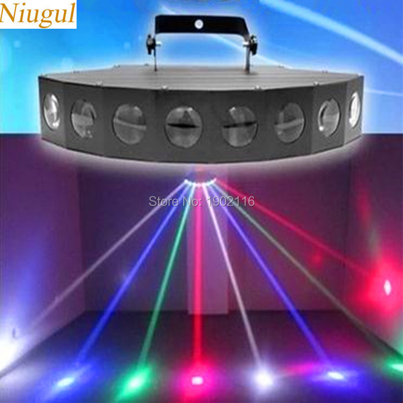 Niugul High brightness LED eight-beam fan beam bar light beam laser RGBW scanner dj club disco light Scanner Eight Eyes LED Lamp ароматизатор $100 5х11 см запах роза 1135722