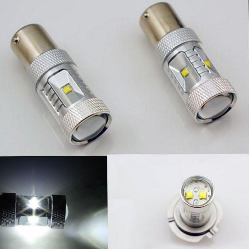 CYAN SOIL BAY 1 Pair 1157 30W BAY15D P21/5W High Power Dual Beam LED Brake Bulb White Front Turn Signal Fog Light Lamp