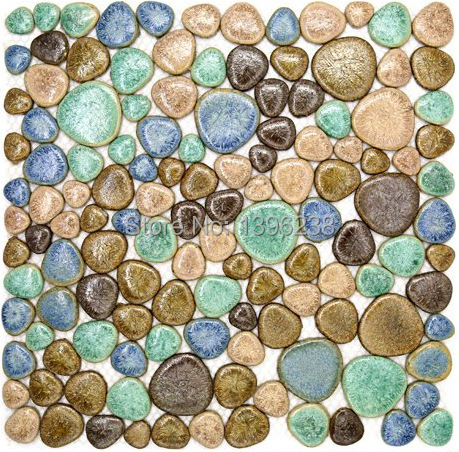 Porcelain Swimming Pool Pebbles Rurality Glazed Ceramic Mosaic Tile Kitchen backsplash Bathroom home Wall Floor art decor,LSYB03 джемперы von dutch джемпер