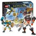 107 pcs bela bionicle hero tahu fabricante da máscara do crânio moedor modelo blocos de construção meninos crianças tijolos compatíveis com lego