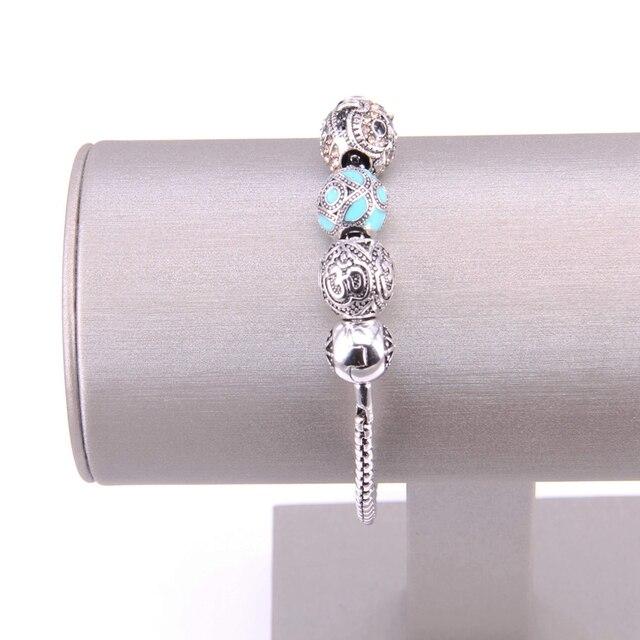 Купить браслет из бусин thomas с голубыми бусинами перегородчатой эмали картинки