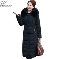 Winter Coat Women Wadded Jacket Outerwear Female Long Thickening Winter Parkas Fashion Slim Cotton Padded Coat