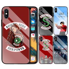 Tempered Glass Cover for iPhone 7 X Back Shell for iPhone 8 6 6S XR XS MAX Plus Riverdale Jughead Jones Print Cases Fundas Capa(China)